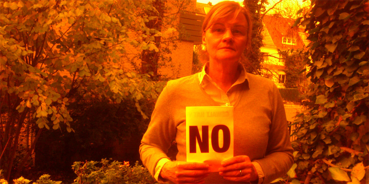 Susanne aus Bremen sagt NEIN zu Gewalt gegen Frauen